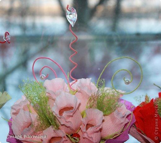 вот такой вот цветник появился у меня дома перед 8 марта =) все цветочки сделаны на заказ =) фото 3