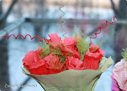 вот такой вот цветник появился у меня дома перед 8 марта =) все цветочки сделаны на заказ =) фото 4