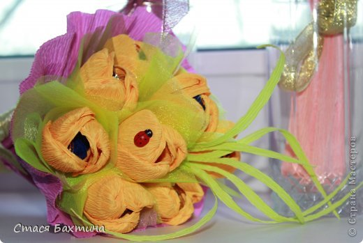 вот такой вот цветник появился у меня дома перед 8 марта =) все цветочки сделаны на заказ =) фото 5