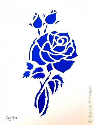 Картина панно рисунок Выпускной День матери День рождения Вырезание Розы Копии Бумага фото 2