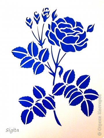 Картина панно рисунок Выпускной День матери День рождения Вырезание Розы Копии Бумага фото 1