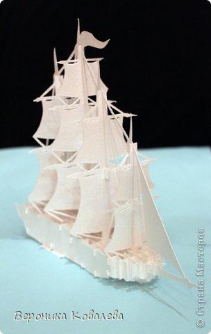 """Наконец-то у меня """"дошли руки"""" вырезать эту схему=))) Собрались я с терпением (да, да, без него никак не собрать эту схемку) и сделали мы вот такую замечательную открытку - кораблик!   Поплывет мой корабль в Финляндию в подарок коллеге по работе!!! =))) Автор схемки - Tien Phuong (Vietnam) фото 2"""