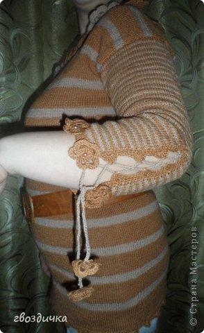 Пуловер с разрезами на рукавах. фото 2