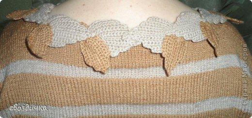Пуловер с разрезами на рукавах. фото 7