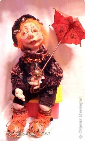 """Скульптурный текстиль. Авторская кукла: """"Рыжий дождик"""". фото 1"""