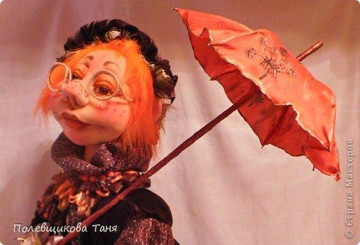 """Скульптурный текстиль. Авторская кукла: """"Рыжий дождик"""". фото 7"""
