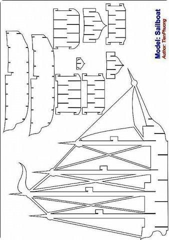 """Наконец-то у меня """"дошли руки"""" вырезать эту схему=))) Собрались я с терпением (да, да, без него никак не собрать эту схемку) и сделали мы вот такую замечательную открытку - кораблик!   Поплывет мой корабль в Финляндию в подарок коллеге по работе!!! =))) Автор схемки - Tien Phuong (Vietnam) фото 13"""