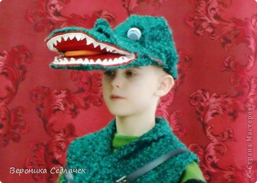 Такой вот костюм Крокодила Гены я сшила сынуле для школьного спектакля.   фото 1