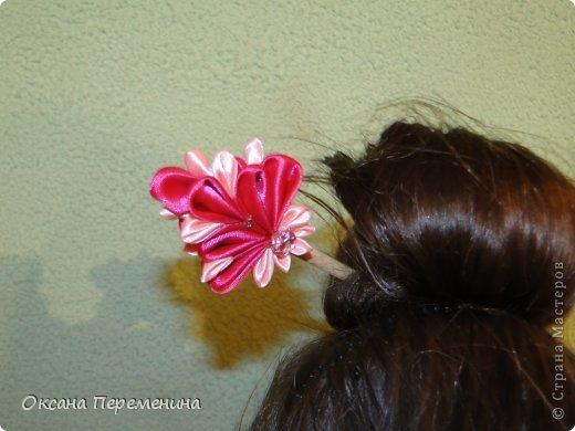 К новому году покупала дочкам платья в виде кимоно, вот решила добавить к образу еще и заколочек. фото 4