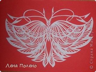 Вырезание бабочки-повторяшки Бумага фото 2