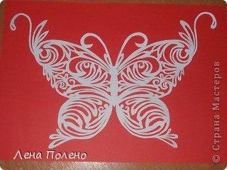 Вырезание бабочки-повторяшки Бумага фото 4