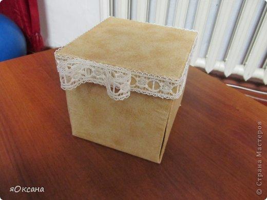 Вот такая коробочка у меня получилась.Идея из интернета.Размеры 14*14*14см фото 1