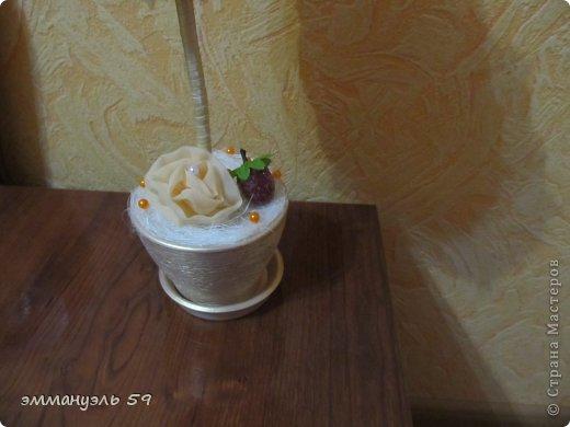 Добрый день дорогие мастерицы! Сделала вот такой топиарий для 45-летие. Ну а так как в 45 баба ягода опять вот и придумала такую ягодку по просьбе заказчика, что-то придумать.)))) фото 3