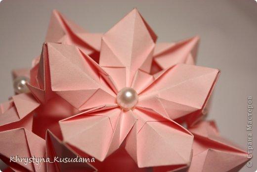 Флорамия (Floramia by Ekaterina Lukasheva) - моя давняя хотелка. легко разгадалась после цветочков Томоко Фусе http://www.origami-instructions.com/origami-modular-5-petal-flower.html они у меня вот здесь https://stranamasterov.ru/node/533650 фото 1