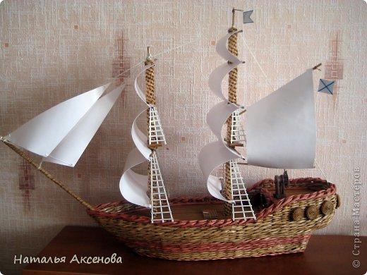 Всем доброго времени суток! Вот такой опять получился кораблик. Сделан на заказ на день рождения ребёнку. фото 1