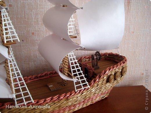 Всем доброго времени суток! Вот такой опять получился кораблик. Сделан на заказ на день рождения ребёнку. фото 2