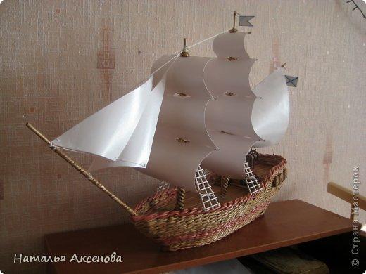 Всем доброго времени суток! Вот такой опять получился кораблик. Сделан на заказ на день рождения ребёнку. фото 3