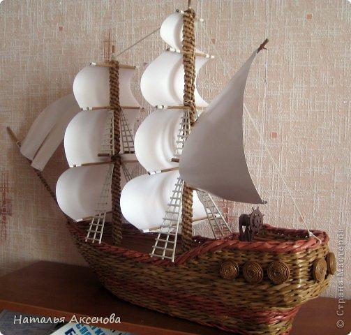 Всем доброго времени суток! Вот такой опять получился кораблик. Сделан на заказ на день рождения ребёнку. фото 4