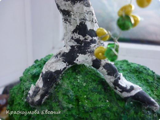 Поделка изделие Макет модель Бисероплетение Лепка У ручейка Бисер Гуашь Клей Материал природный Тесто соленое фото 4.