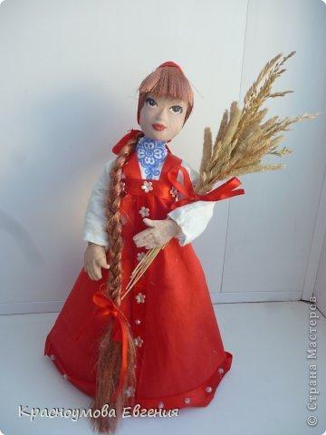 Моя первая кукла из папье маше фото 1