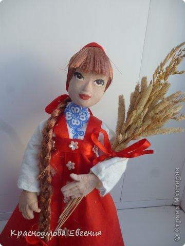Моя первая кукла из папье маше фото 2