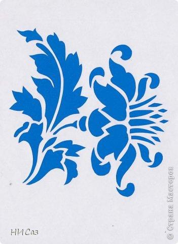 Картина панно рисунок Вырезание Цветок василек Бумага фото 1