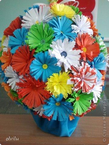 """Это моя первая работа. Не судите строго... Сама вижу: цветочки не аккуратные, оформление не уверенное..... Но только благодаря мастерицам сайта я решилась на это """"недоразумение"""". Спасибо за вдохновение!!!! фото 1"""