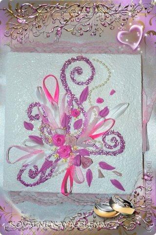 Вот такой набор делала брату на свадьбу. Т. к. молодожёны ждали девочку, то и детскую бутылку делала розового цвета. Это и определило цвет всего комплекта. фото 6