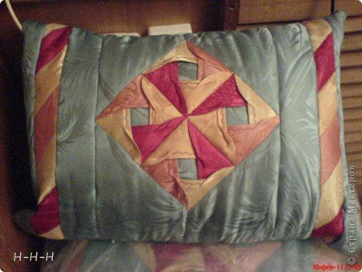 При изготовлении пользовалась предложенными идеями из журналов и сайтов по рукоделию.  Подушка для подруги в технике оригами фото 1