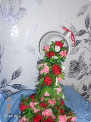 """Всем доброго времени суток!!! Мои дорогие и любимые мастерицы, вот такая чашечка у меня появилась за сегодняшнюю ночь. Дочь решила назвать """" Цветочный """"водопад"""""""".  Мне нравится, а ВАМ!!??  фото 3"""