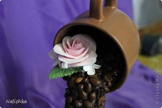 Кофейная чашка с розами из Деко. фото 2