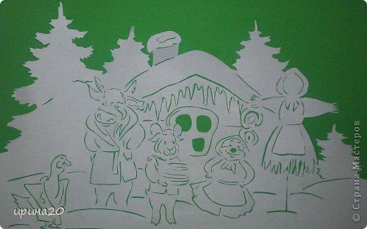 Картина панно рисунок Масленица Вырезание масленица Бумага фото 1