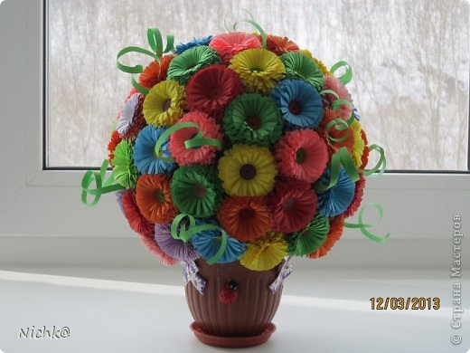 Мой первый цветочный шар - вроде ничего получился)))) фото 1