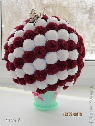 Мой первый цветочный шар - вроде ничего получился)))) фото 2