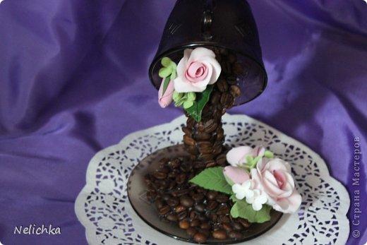 Кофейная чашка с розами из Деко. фото 6