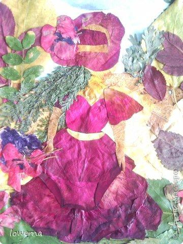 """Картина из листьев """"Осень"""". Увидела в просторах интернета подобную картину (не помню где, возможно и на этом сайте) и очень захотелось повторить!!! фото 3"""