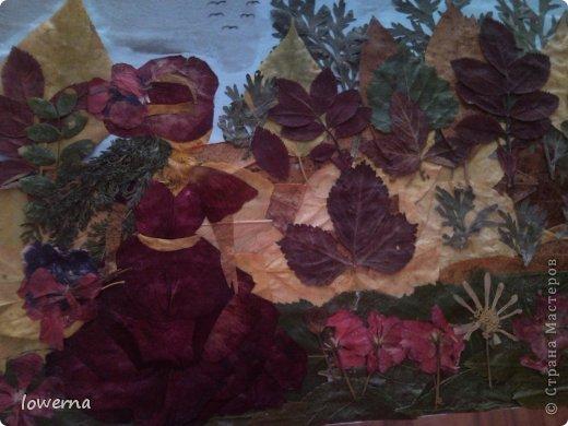 """Картина из листьев """"Осень"""". Увидела в просторах интернета подобную картину (не помню где, возможно и на этом сайте) и очень захотелось повторить!!! фото 2"""