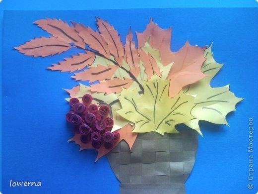 """Картина из листьев """"Осень"""". Увидела в просторах интернета подобную картину (не помню где, возможно и на этом сайте) и очень захотелось повторить!!! фото 5"""