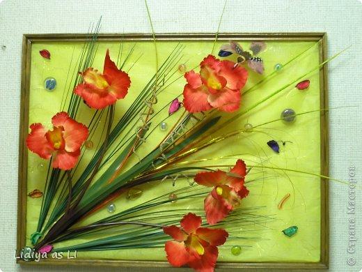 Панно из цветов своими руками