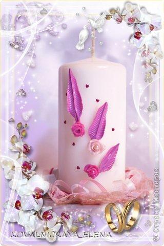 Вот такой набор делала брату на свадьбу. Т. к. молодожёны ждали девочку, то и детскую бутылку делала розового цвета. Это и определило цвет всего комплекта. фото 9