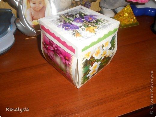 Такая вот получилась у нас коробочка для подружки сынули)))) Делала по МК https://stranamasterov.ru/node/154032?c=favorite фото 2
