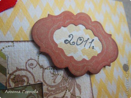 Страничка о себе любимой - открывает 2011 год в альбоме =)  Фотография как-то не очень четко вышла... Фотографировала впервые утром! =) фото 3