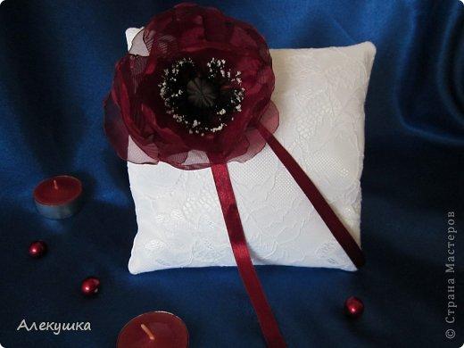Мои свадебные подушечки для колец фото 10
