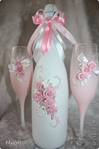Шампанское украсить цветами своими руками