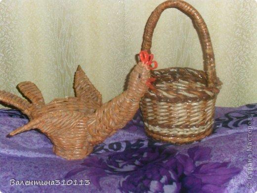 Здравствуйте жители СМ!Осваиваю новые ,для меня,виды плетения.Плела из газетных трубочек,покрашенных водной морилкой-мокко и листвинница.Зелёные трубочки-зелёнкой. фото 7