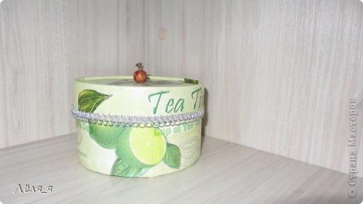 коробочка для чайных пакетиков.........решила сделать не домик))))))) фото 1