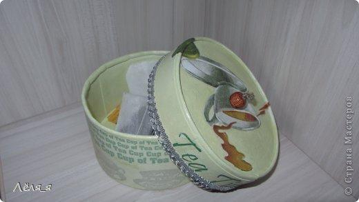 коробочка для чайных пакетиков.........решила сделать не домик))))))) фото 5