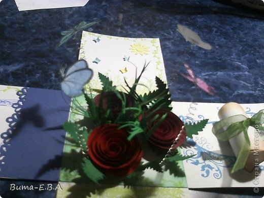 Поделка изделие 8 марта День матери День рождения День учителя Бумагопластика Школьная коробочка и ее МК Бумага Клей Краска Ленты Проволока Скотч фото 26