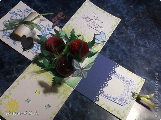 Поделка изделие 8 марта День матери День рождения День учителя Бумагопластика Школьная коробочка и ее МК Бумага Клей Краска Ленты Проволока Скотч фото 31