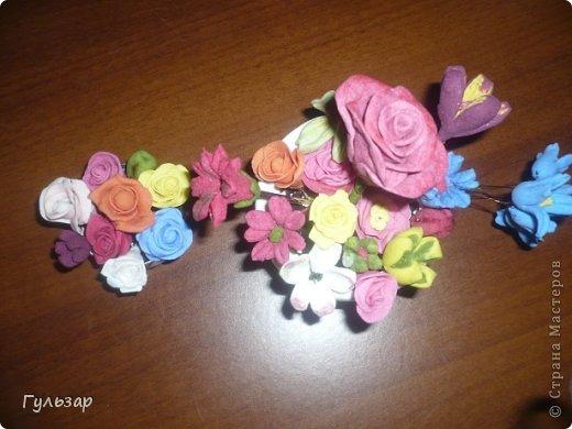 Цветы сделаны из самодельной глины(спасибо СМ! ) - сода+крахмал+вода. фото 3